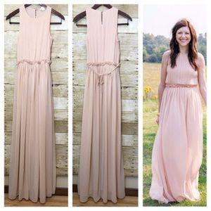 H&M Blush Pink Sleeveless Maxi Dress *Worn Once!*